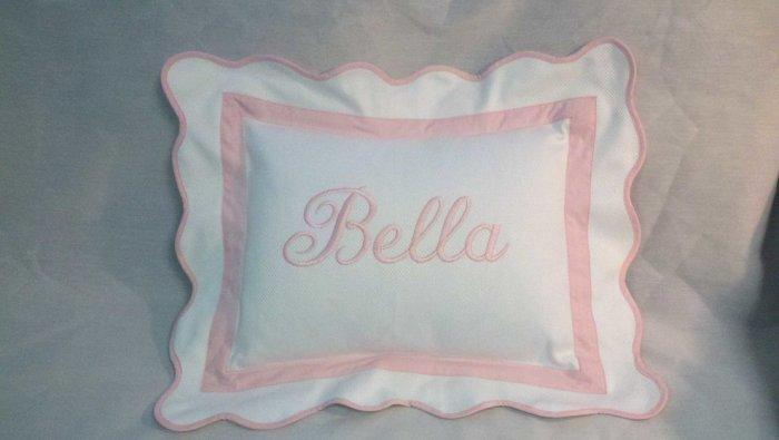 Bella baby shower pillow - with embroidered name