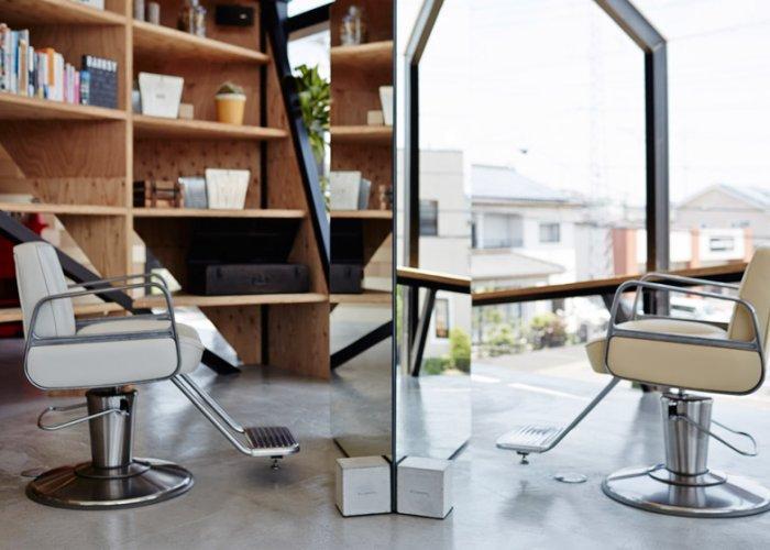 Contemporary hairdresser salon - the barber area