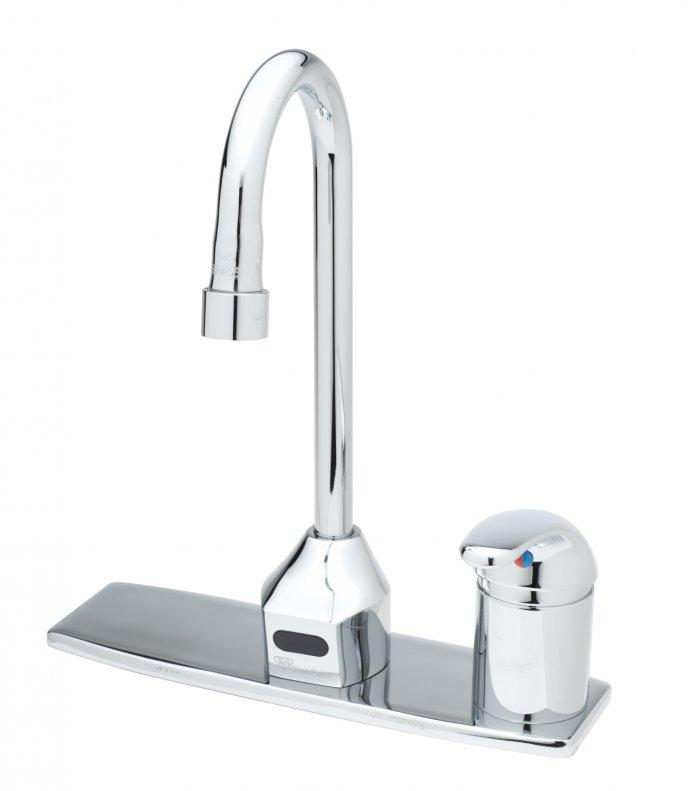 Contemporary kitchen touchless faucet - with high arm