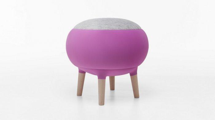 Contemporary stool design - cora chair