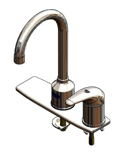 Copper toucless faucet - with temperature handle