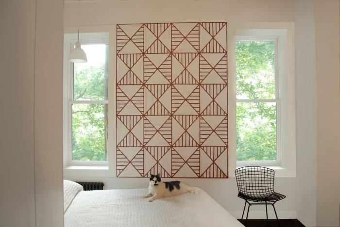 Creative bedroom art - in a contemporary room