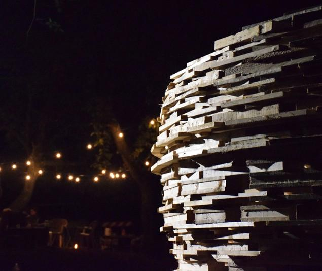 Space Observatory Made of Wooden Pallets