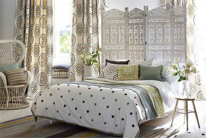 Elegant upholstery and textile - for bedroom