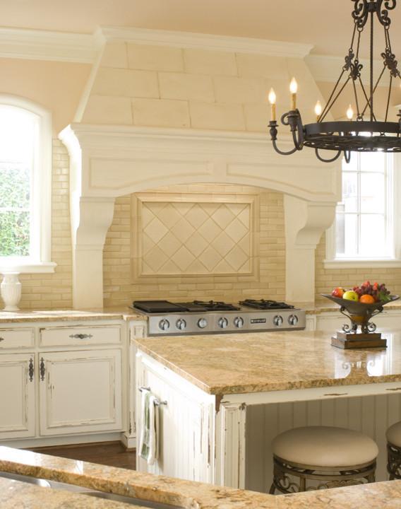 Expensive granite countertop - in a white kitchen