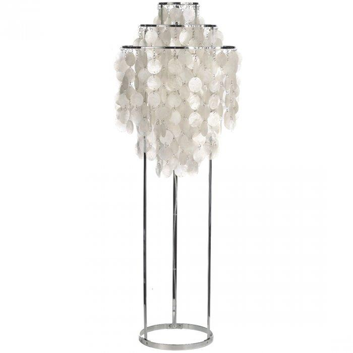 Floor lamp with white elements - and metal base