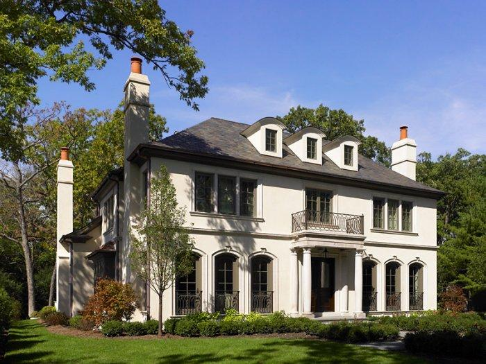 French eclectic house - with high chimneys