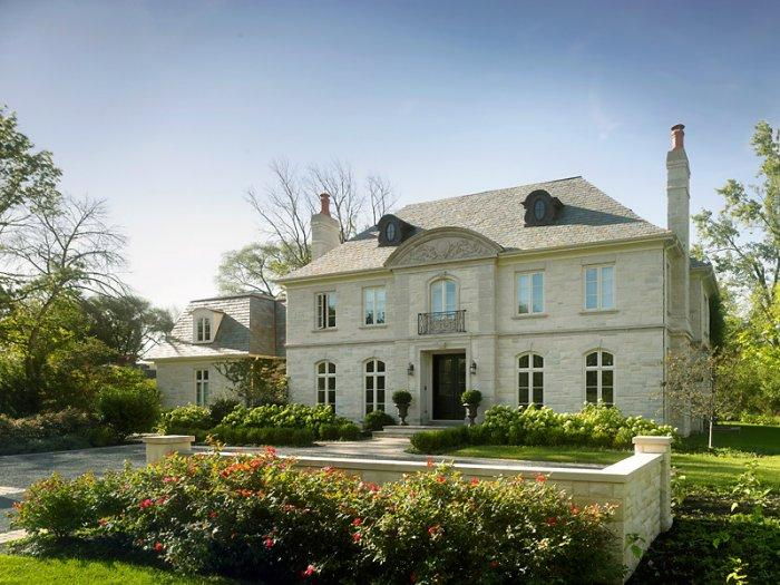 French eclectic mansion - with symmetrical shape