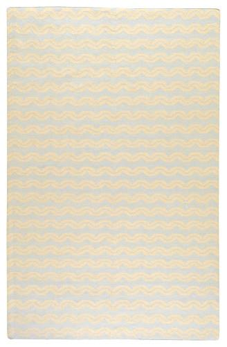 Frontier Pale Blue Hand Woven Wool Rug - for baby shower