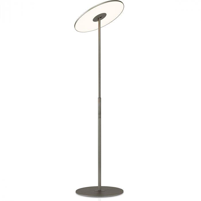 Glass floor lamp - with metal arm