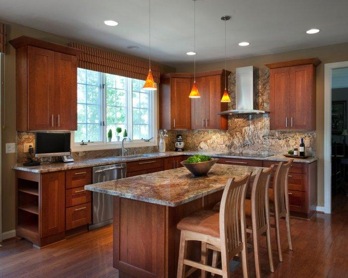 Spanish Kitchen Design Ideas With Red Color Marble ~ Granite countertops match your kitchen cabinets founterior