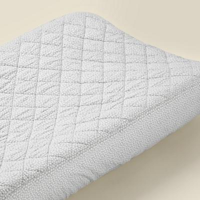 Grey Rubble Changing Pad Cover - for baby shower