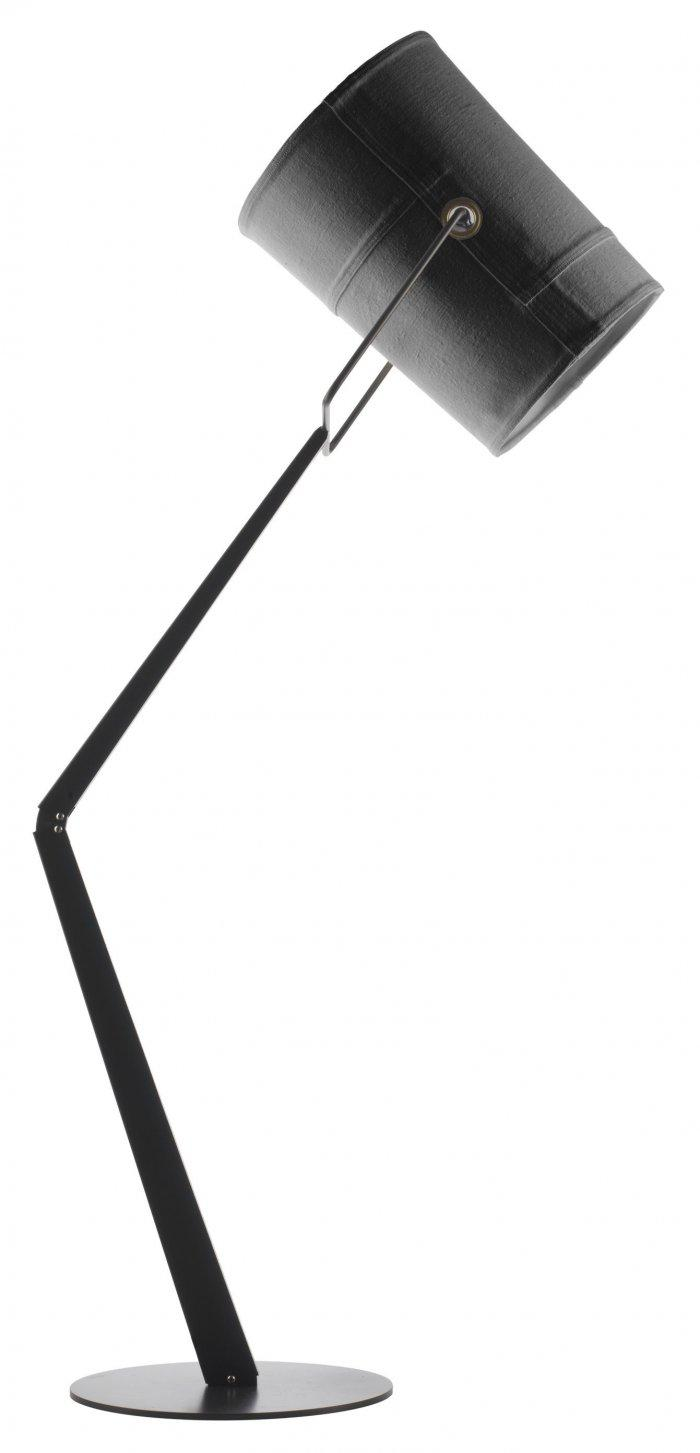 Industrial floor lamp - with large shader