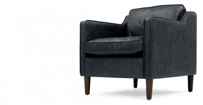Leather designer chair - with modern design