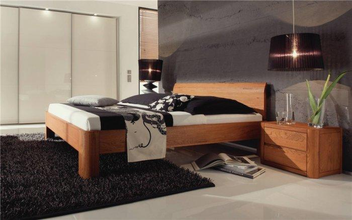 Luxurious designer bed - in expensive bedroo