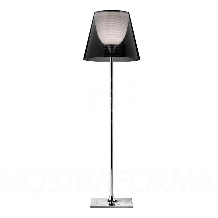 Luxurious floor lamp - with transparent shader