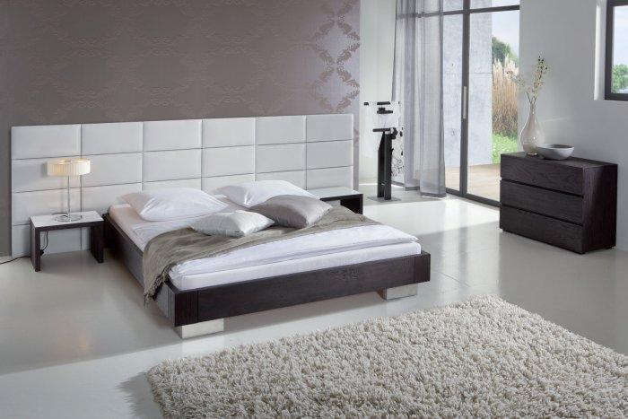 Designer Headboard minimalist designer bed - with white giant headboard | founterior