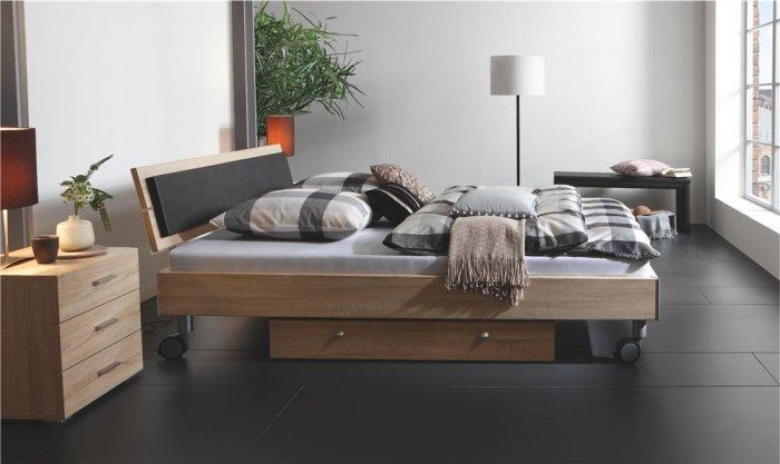 Mobile designer bed - with wooden frame
