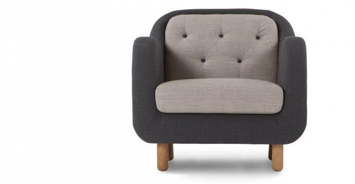 Modern designer chair - in grey color