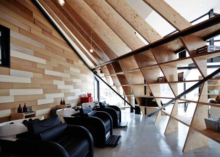 Modern hairdresser salon - with leather chairs