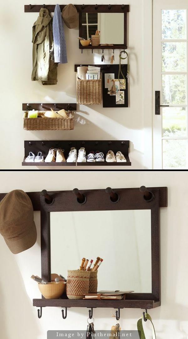 Modern shelves with baskets and hoooks - for shoes and other stuff
