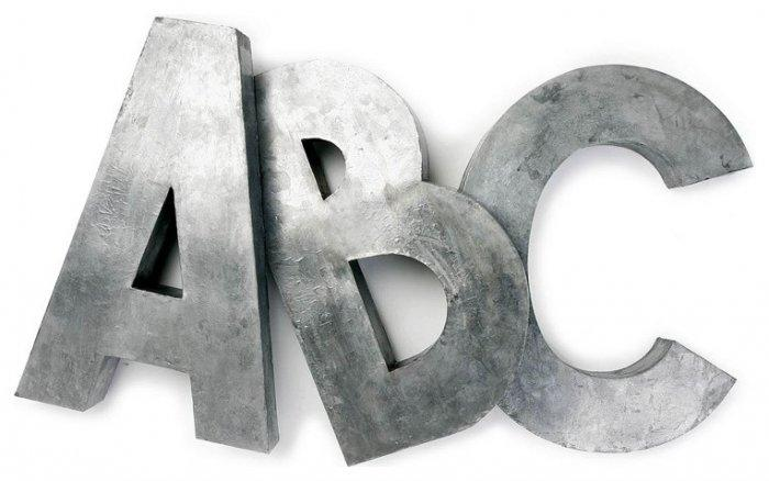 Oversize Zinc Letters- for baby shower