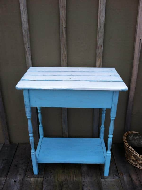 Pallet furniture - kitchen table - for additional storage