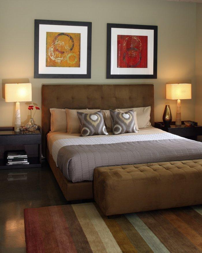 Red and yellow bedroom art - two paintings | Founterior