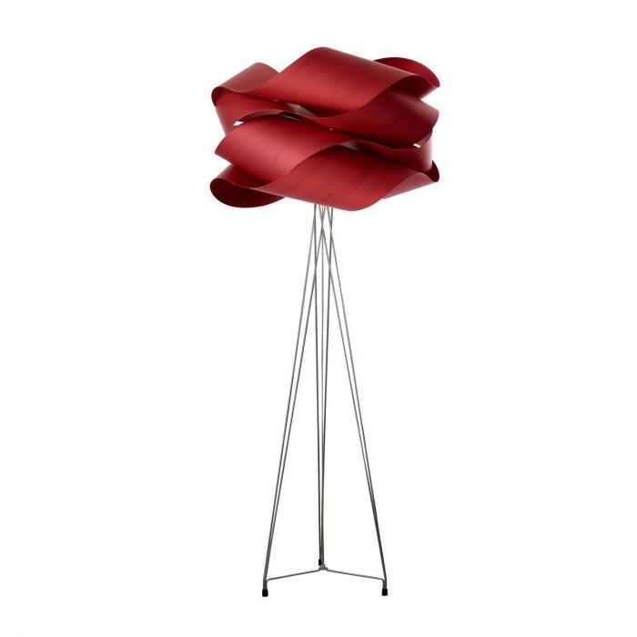 Red floor lamp - with modern shader