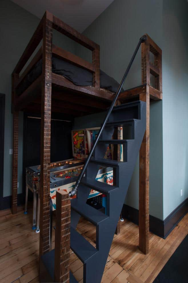 Rustic loft bed - in a kids room