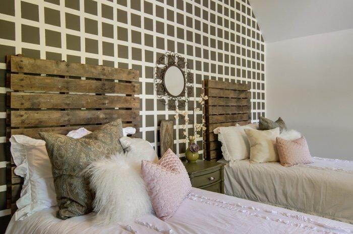 Scandinavian pallet headboard - mix of modern and simple