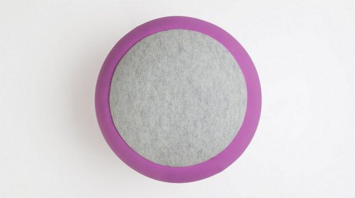 Soft stool surface - in grey color
