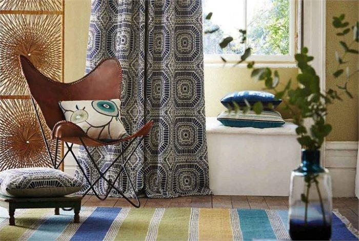 Stylish designer curtains textile - for modern interiors