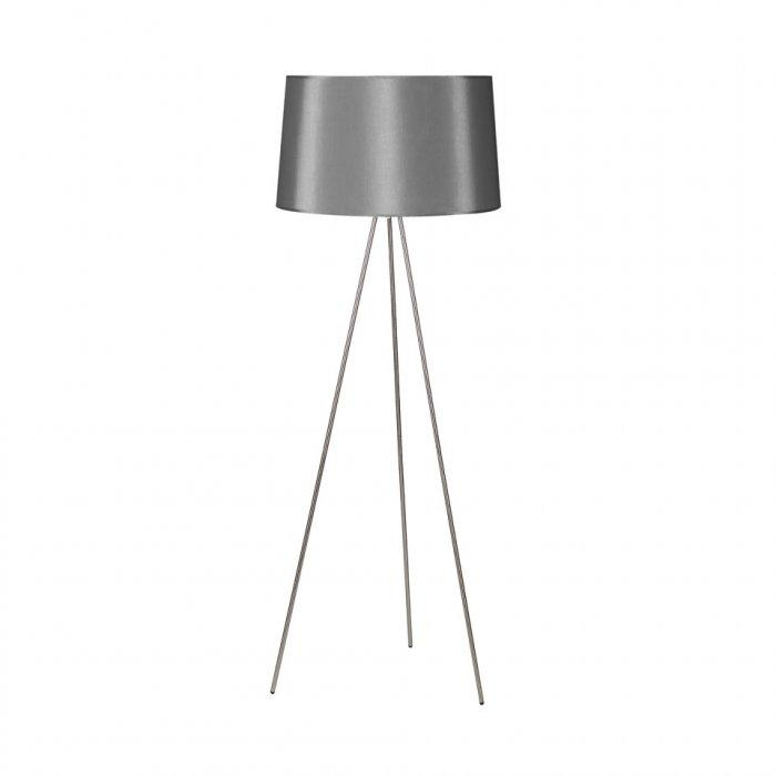 Stylish floor lamp - with grey shader