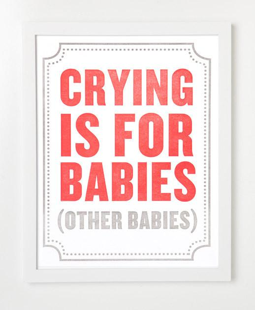 Subliminal Baby Letterpress Art Print By SYCAMORE STREET PRESS - for baby shower