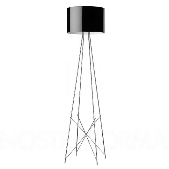 Tripod floor lamp - with round shader