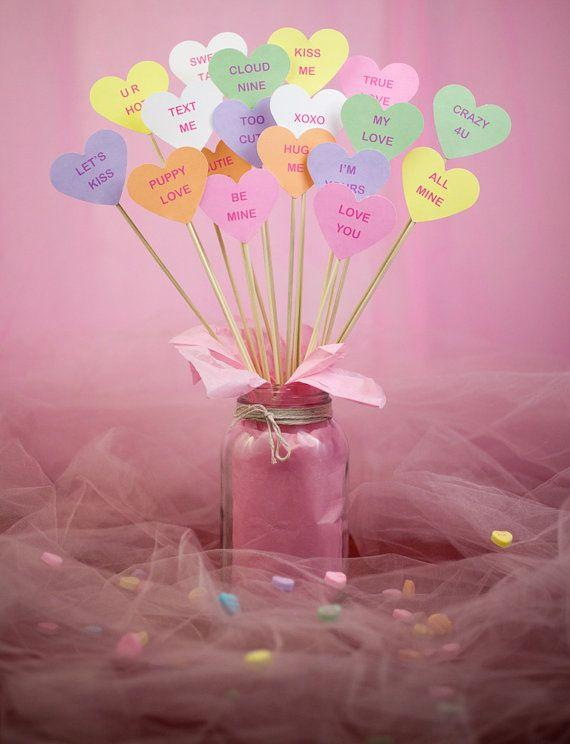 Valentine's Day colorful jar - with Love you quotes