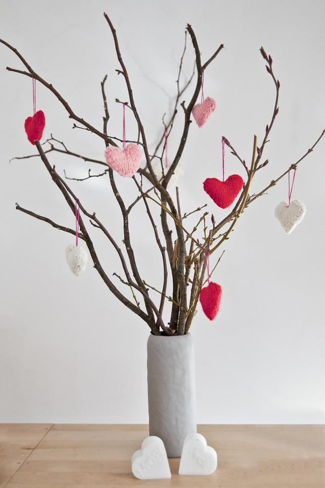 Valentine's day DIY pot - with branches