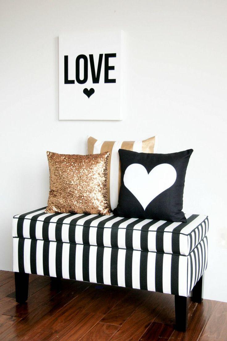 Valentine's day Love decor - in black and white