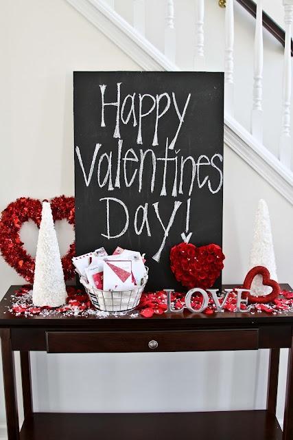 Valentine's day black board - happy celebration