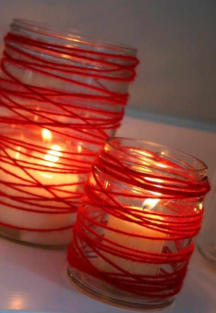 Valentine's day candleholders - made of jars