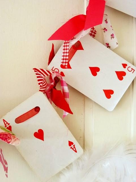 Valentine's day cards - Five and Ace of hearts