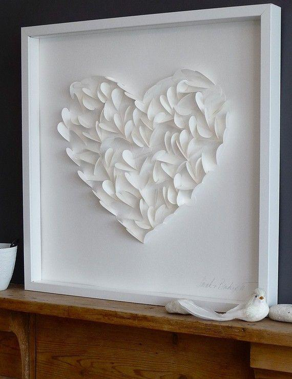 Valentine's day craetive heart - made of paper