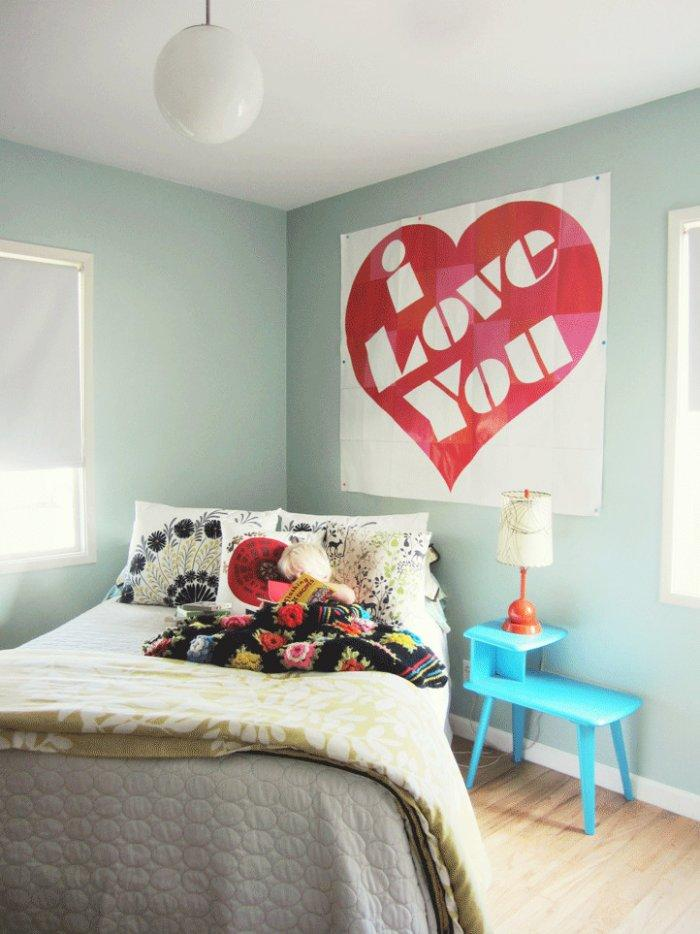 Valentine's day wall heart - I love you