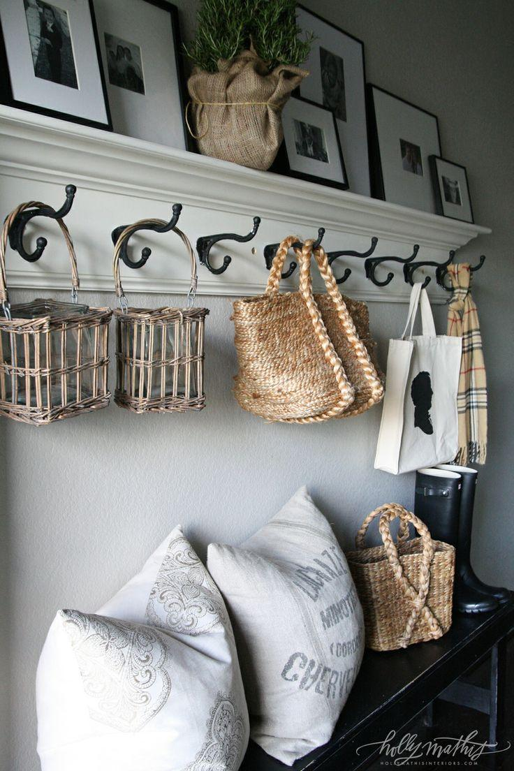 Vintage shelves with baskets and hooks - for storing stuff