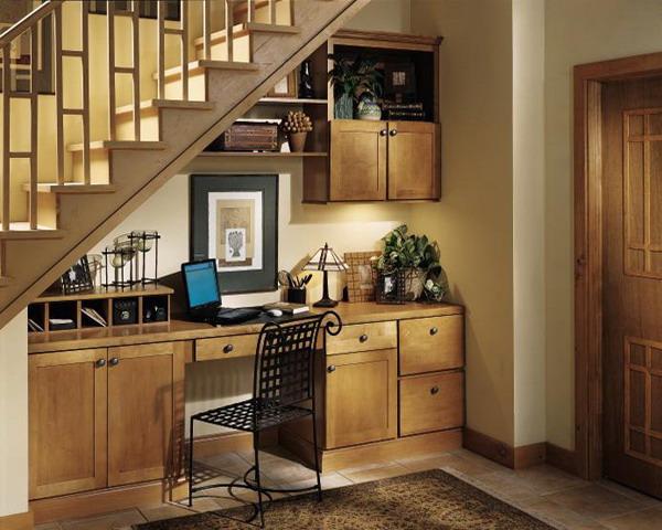 1 home office under stairs storage