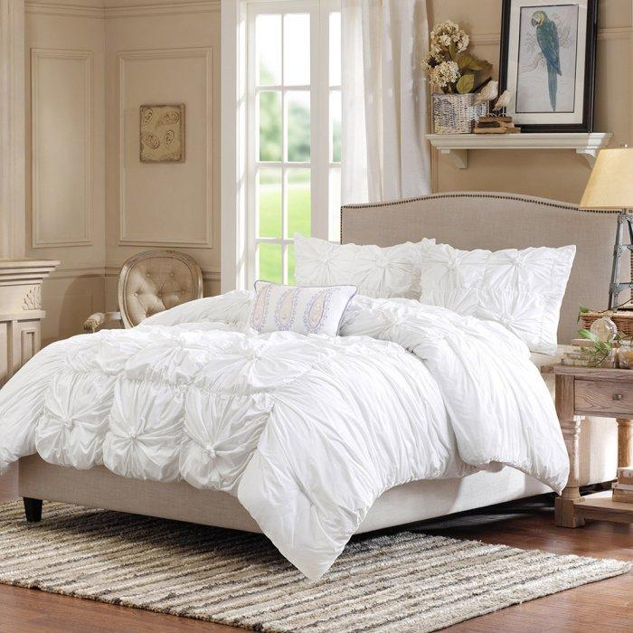4 piece duvet cover set - in pure white
