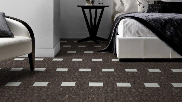 Black and white designer floor tiles - for classic interior