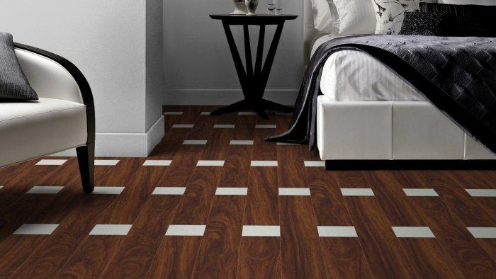 Brown And White Designer Floor