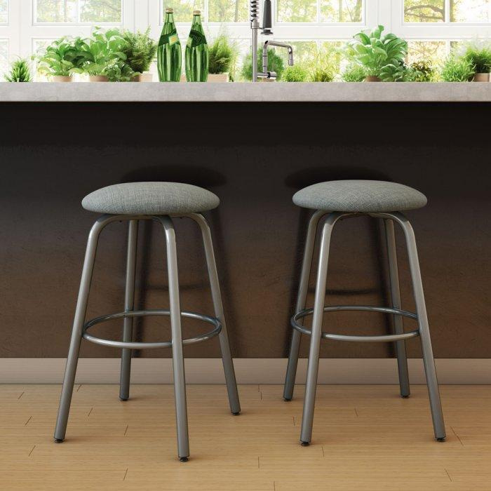 Contemporary kitchen bar stool - with aluminum legs